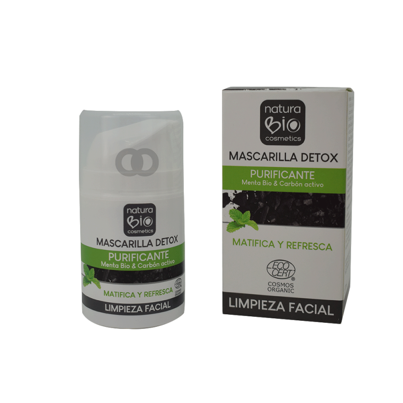 Mascarilla detox matifica y refresca bio - 50ml