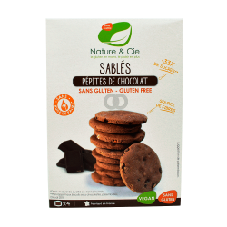 Galletas con pepitas de chocolate sin gluten bio - 130g