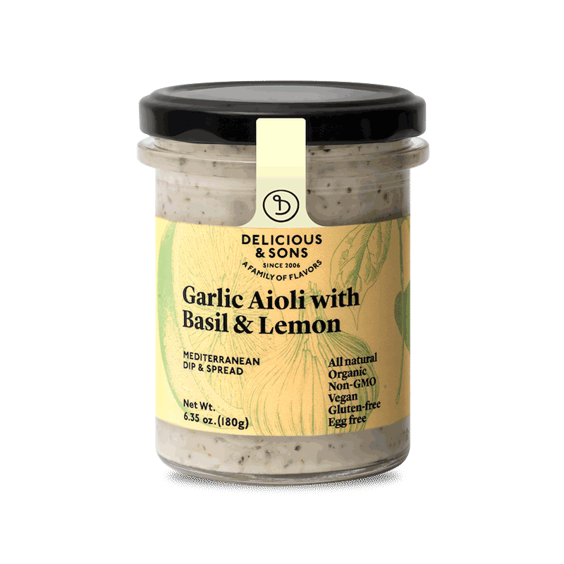 alioli con albahca y limon 180gr de delicious and sons en smartfooding