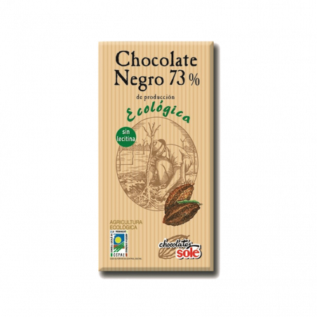 Chocolate negro 73% sin gluten eco - 100 gr