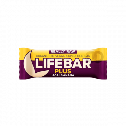 Barrita Lifebar plus banana y acai bio - 47 gr