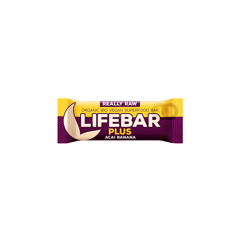 Lifebar plus banana y acai bio - 47 gr