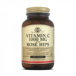 Vitamina C 1000 mg Rose Hips - 100 comprimidos