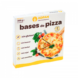 Base de pizza sin gluten x2 - 300 gr