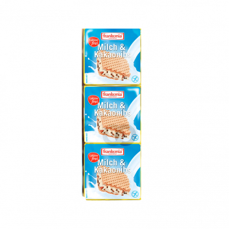 Wafers chocolate blanco sin gluten y sin lactosa - 100 gr
