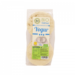 Tortitas de arroz y yogur natural bio sin gluten - 100 gr