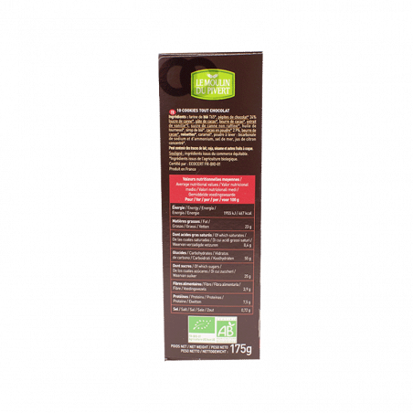 Cookies bio de chocolate - 175 gr