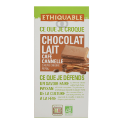 Chocolate cafe canela bio  - 100 gr
