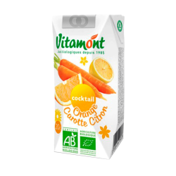 Jus de fruits bio cocktail orange carotte citron - 20cL