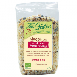 Muesli fruits rouges sans gluten BIO - 375g