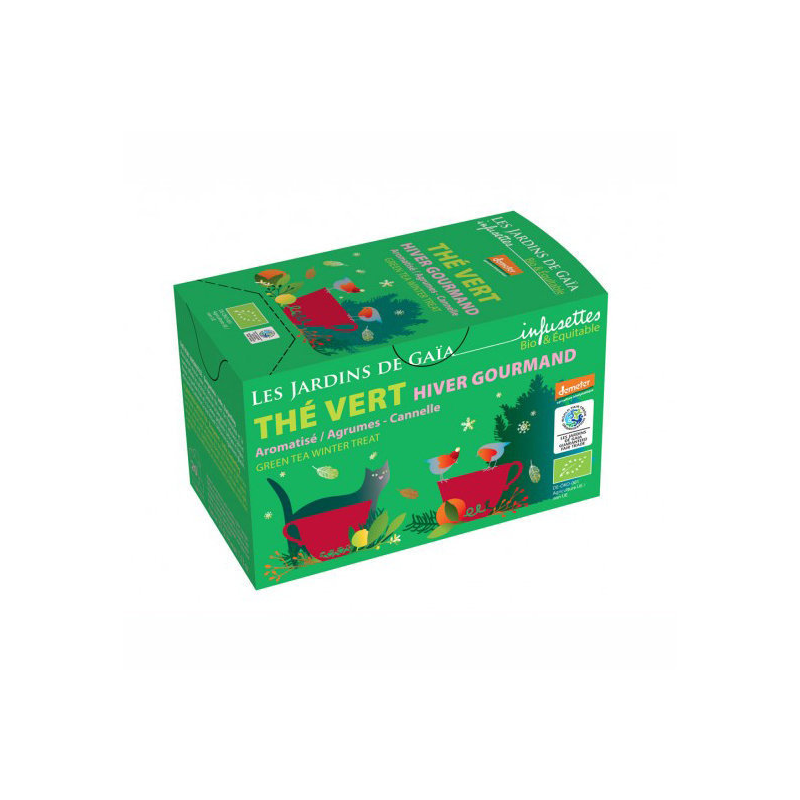 Thé vert Hiver Gourmand infusettes BIO - 32g