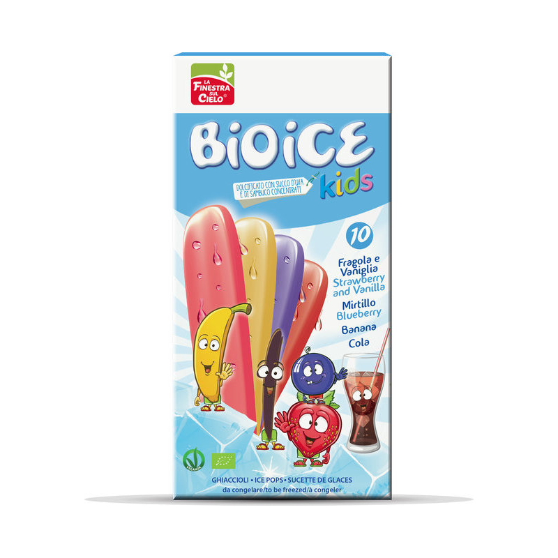 Sucettes de glace Kids assorties - 10*40ml