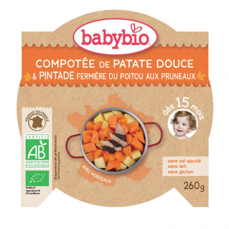 Assiette Patate douce Pintade 15m BIO - 260g