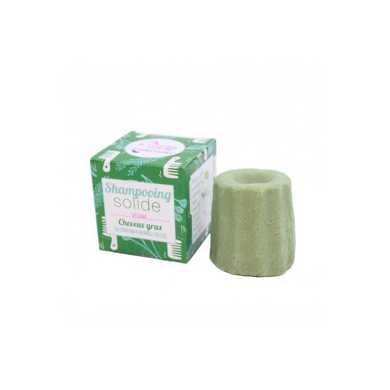 Shampoing solide herbes folles cheveux gras - 55g