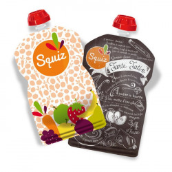 Gourdes Fruits en couleur 130ml x2