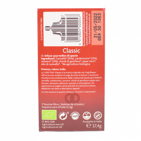 Infusion Classic cannelle gingembre bio x 17 sachets