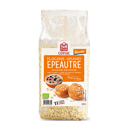 Flocon grand epeautre France Demeter - 500g