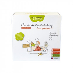 Kit de change lavable lingettes + gants + filet Bio - Coton