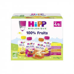 Pack de 8 Gourdes Fruits dès 4/6m BIO - 8x90g