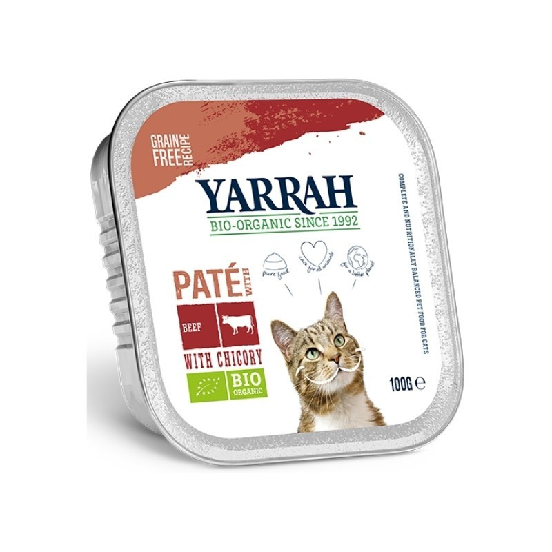 Pâtée Barquette au Bœuf Bio pour Chat - 100gr