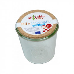 Pot de conservation en verre - 0.6L