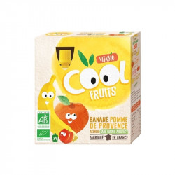 Compote bio cool fruits pomme banane acérola - 360 gr