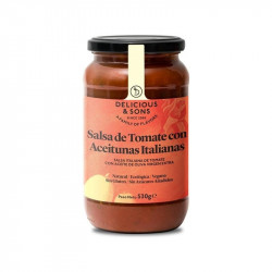 Sauce tomate aux olives italiennes - 530 gr