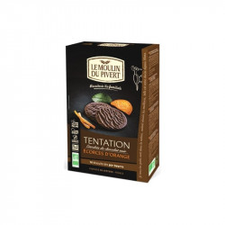 Biscuits 'tentation' chocolat noir écorces d'orange Bio - 130g