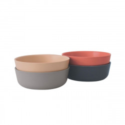 Lot de 4 bols en bambou - Terracotta Ivoire Cloud Storm