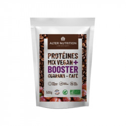 Protéines mix booster vegan, guarana café Bio - 500g