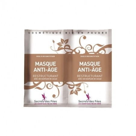 Masque visage anti-âge & restructurant, naturel & Bio - 2x9g