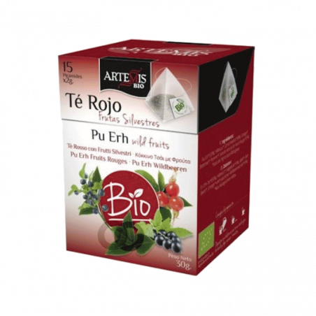 Infusion de thé rouge aux fruits rouges bio - 15 sachets - 30 gr