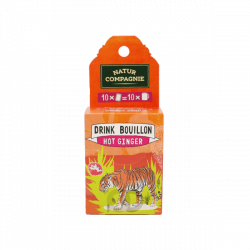 Bouillon 'Hot Ginger' bio - 10 sachets - 50 gr