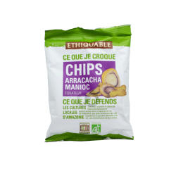 Chips bio arracacha manioc équitable - 60 gr