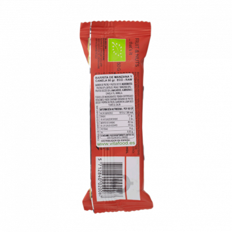 Barre Raw·bite pomme cannelle bio - 50 gr
