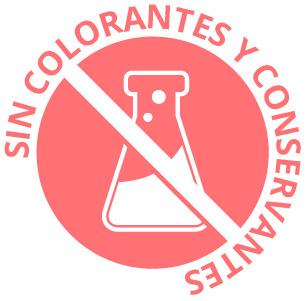 Sin colorantes ni conservantes